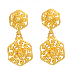 Popley 22Kt Gold Bandhan Earring - A71