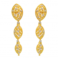 Popley 22Kt Gold Bandhan Earring - A70