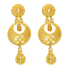 Popley 22Kt Gold Bandhan Earring - A75