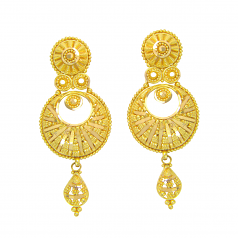 Popley 22Kt Gold Bandhan Earring - A74