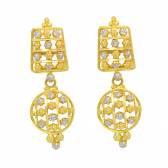 Popley 22Kt Gold Bandhan Earring - A76