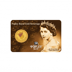 Popley Royal Gold Sovereign King 4gm