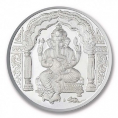 Popley Silver 999 Purity 10 Gram Coin with Goddess Ganesh Design