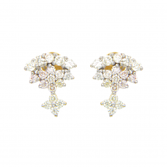 VFM 18K Yellow Gold Diamonds Earring - VFM380