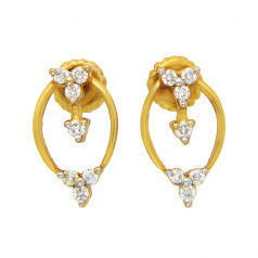Diamond Ids 18K Yellow Gold Diamonds Earring - DID1620