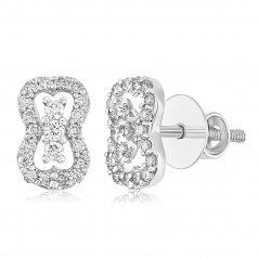 VFM 14K White Gold Diamonds Earring - VFM452