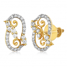 VFM 14K Yellow Gold Diamonds Earring - VFM437