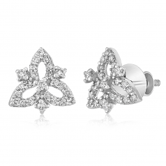 VFM 14K White Gold Diamonds Earring - VFM442
