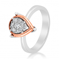 Emotions 18K White/Rose Gold Diamonds Ring - EMO2460