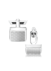 OMEGA CUFFLINKS Stainless steel and translucent resin - CA02ST0000105