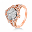 Ice Cubes 18K Rose Gold Diamonds Ring - ICE441