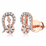VFM 14K Rose Gold Diamonds Stud Earrings - VFM493