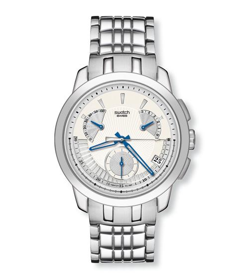 Swatch Irony Retrograde Chrono Blue Sings YRS402G
