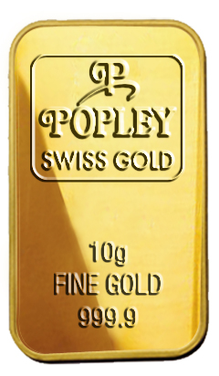 Popley Swiss Gold Bar 10gm