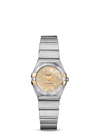 Omega Constellation QUARTZ 24 MM  Steel yellow gold on steel - 123.20.24.60.57.002