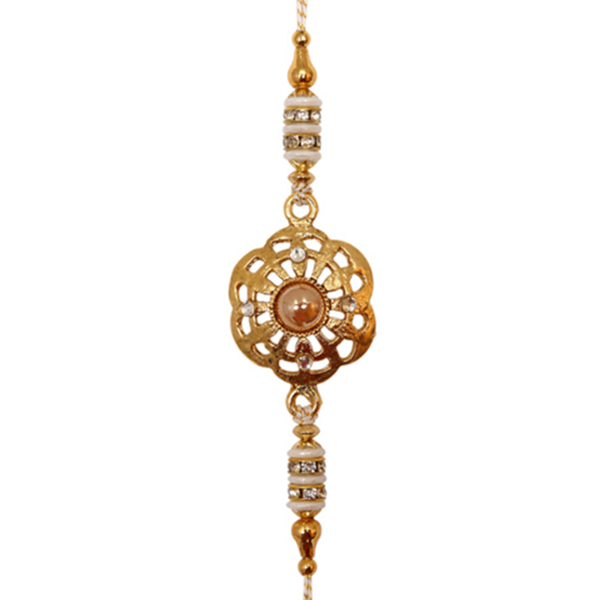 Golden Floweret Rakhi-22318