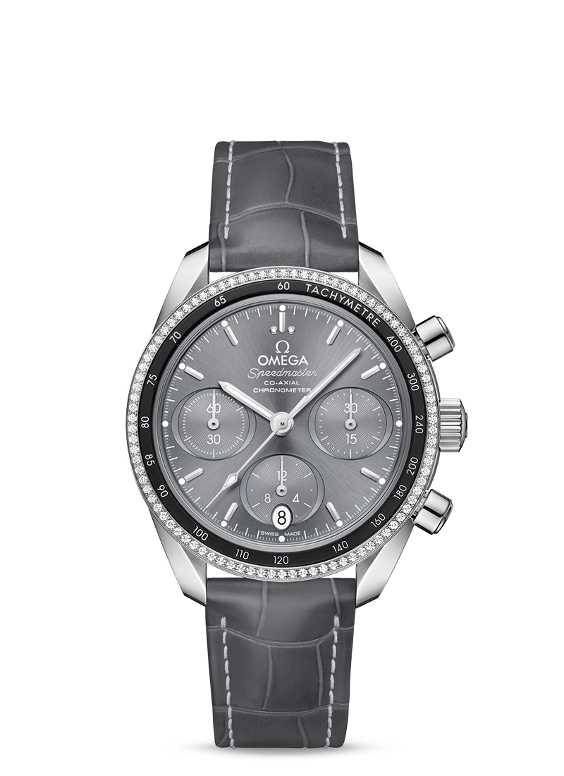 OMEGA SPEEDMASTER CO-AXIAL CHRONOGRAPH 38 MM Steel on leather strap - 324.38.38.50.06.001