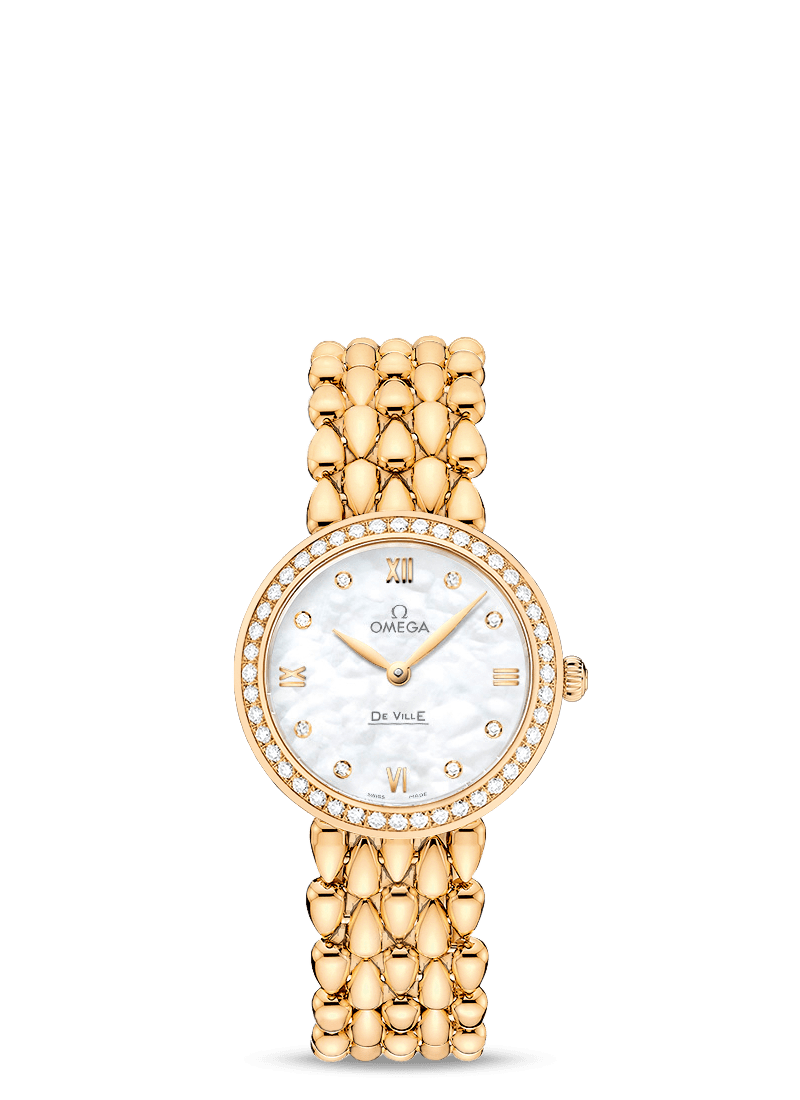 Omega De Ville PRESTIGE QUARTZ 27.4 MM Dewdrop Yellow gold on yellow gold - 424.55.27.60.55.006