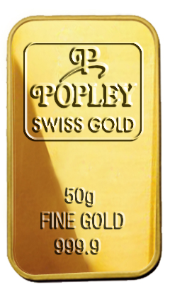 Popley Swiss Gold Bar 50gm