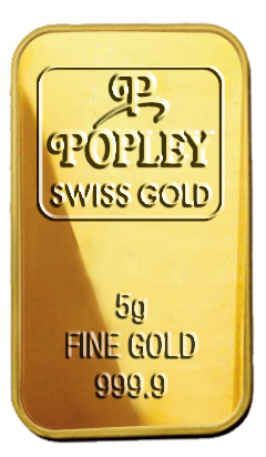 Popley Swiss Gold Bar 5gm