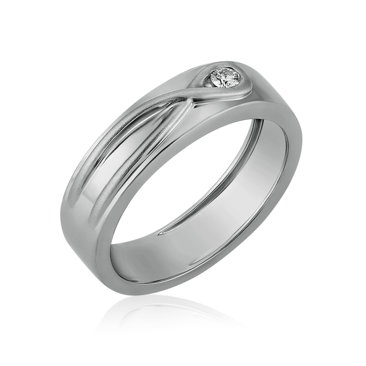 Platinum Infinity Knot Love Bands