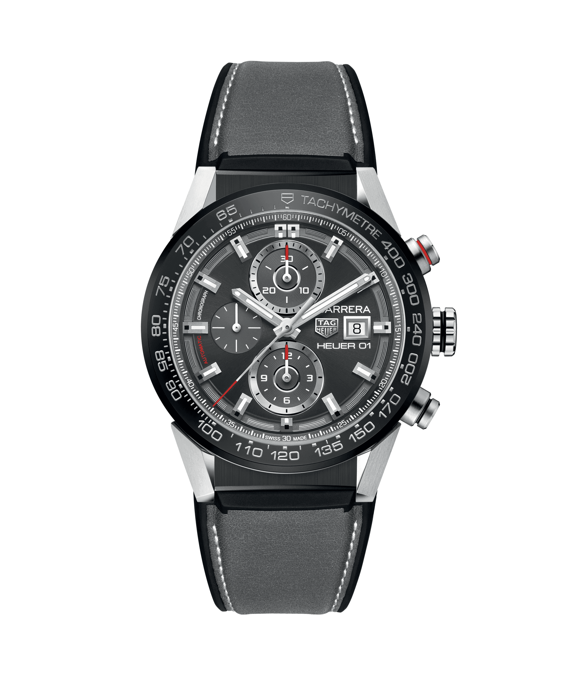 TAG HEUER CARRERA CALIBRE HEUER 01 100m - 43mm - CAR201W.FT6095