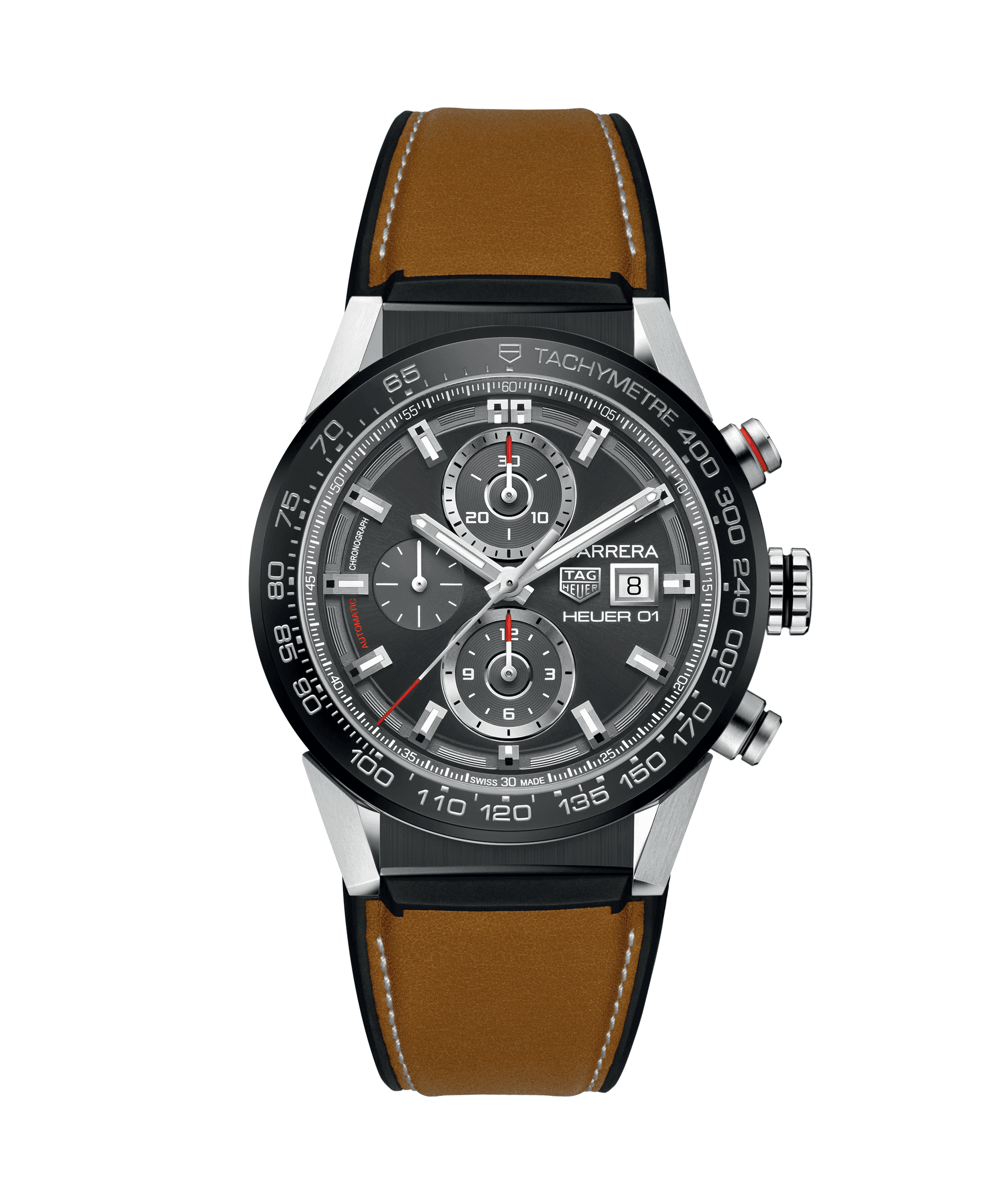 TAG HEUER CARRERA CALIBRE HEUER 01 100m - 43mm - CAR201W.FT6122