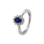 Popley Colours Of Joy Diamond Ring in White Gold with Colour Stone