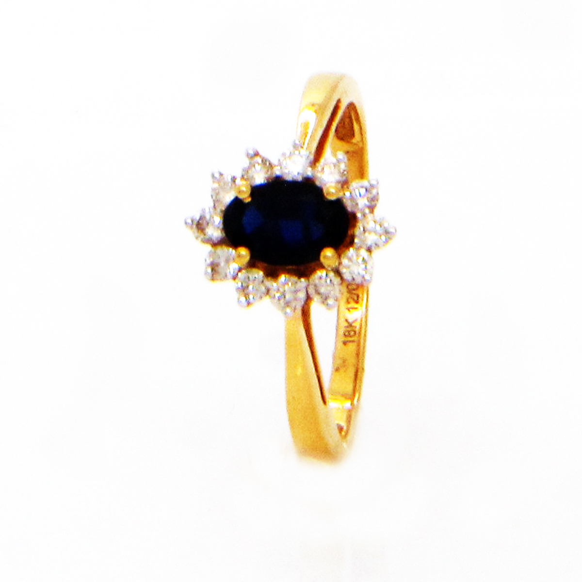 Popley Colours Of Joy Diamond Ring in Yellow Gold with Colour Stone