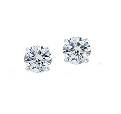 SOLO Diamond Earring 1/2-WG-E