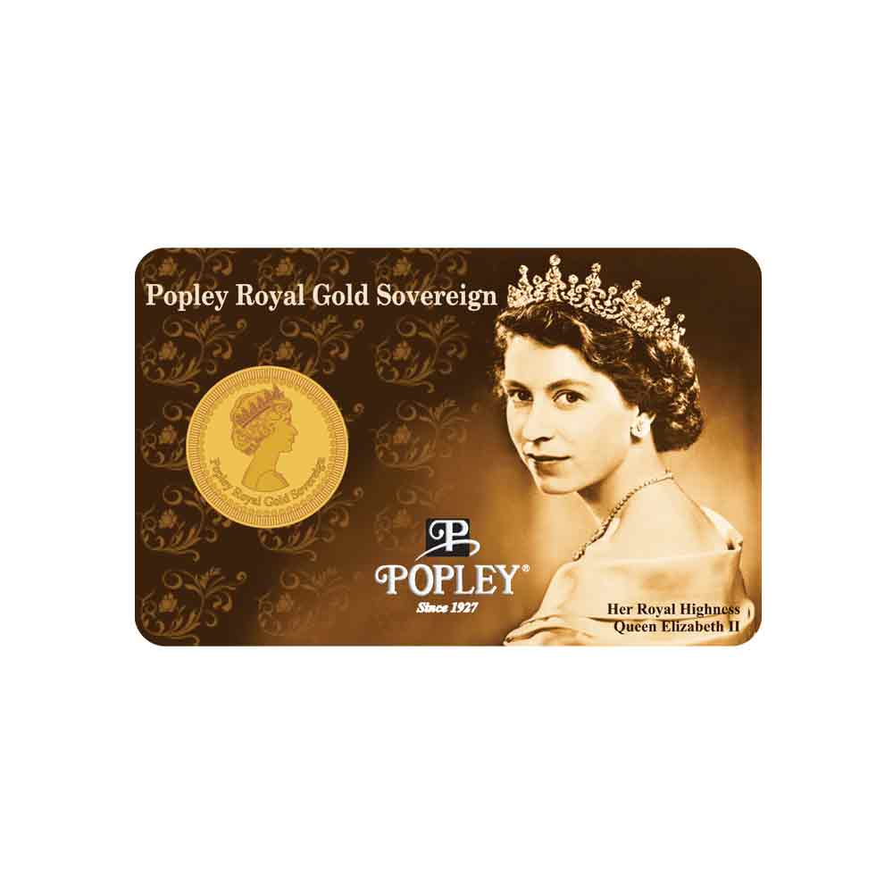 Popley Royal Gold Sovereign Queen 4gm