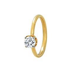 SOLO Diamond Ring 1/4-YG-R