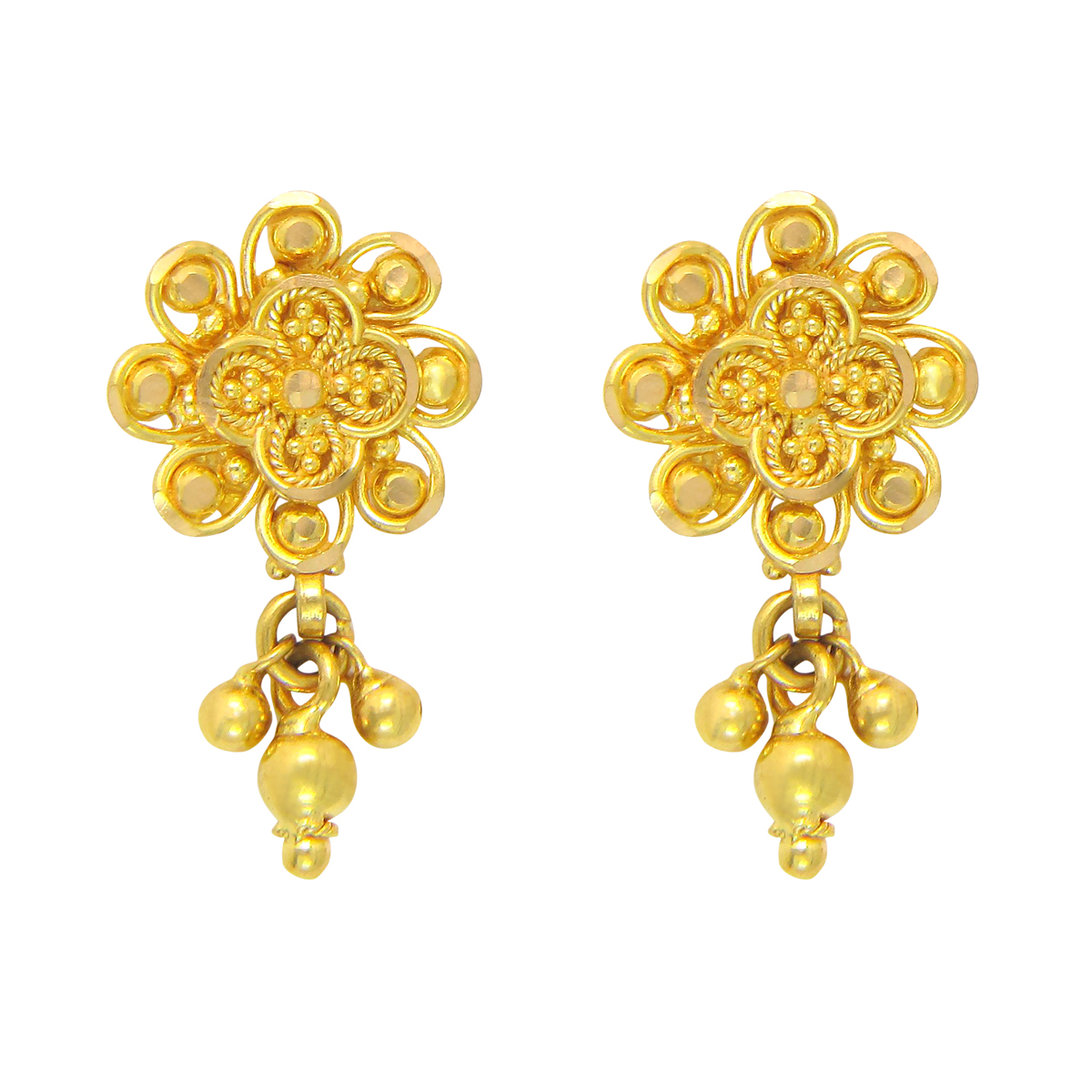 Popley 22Kt Gold Bandhan Earring - A48