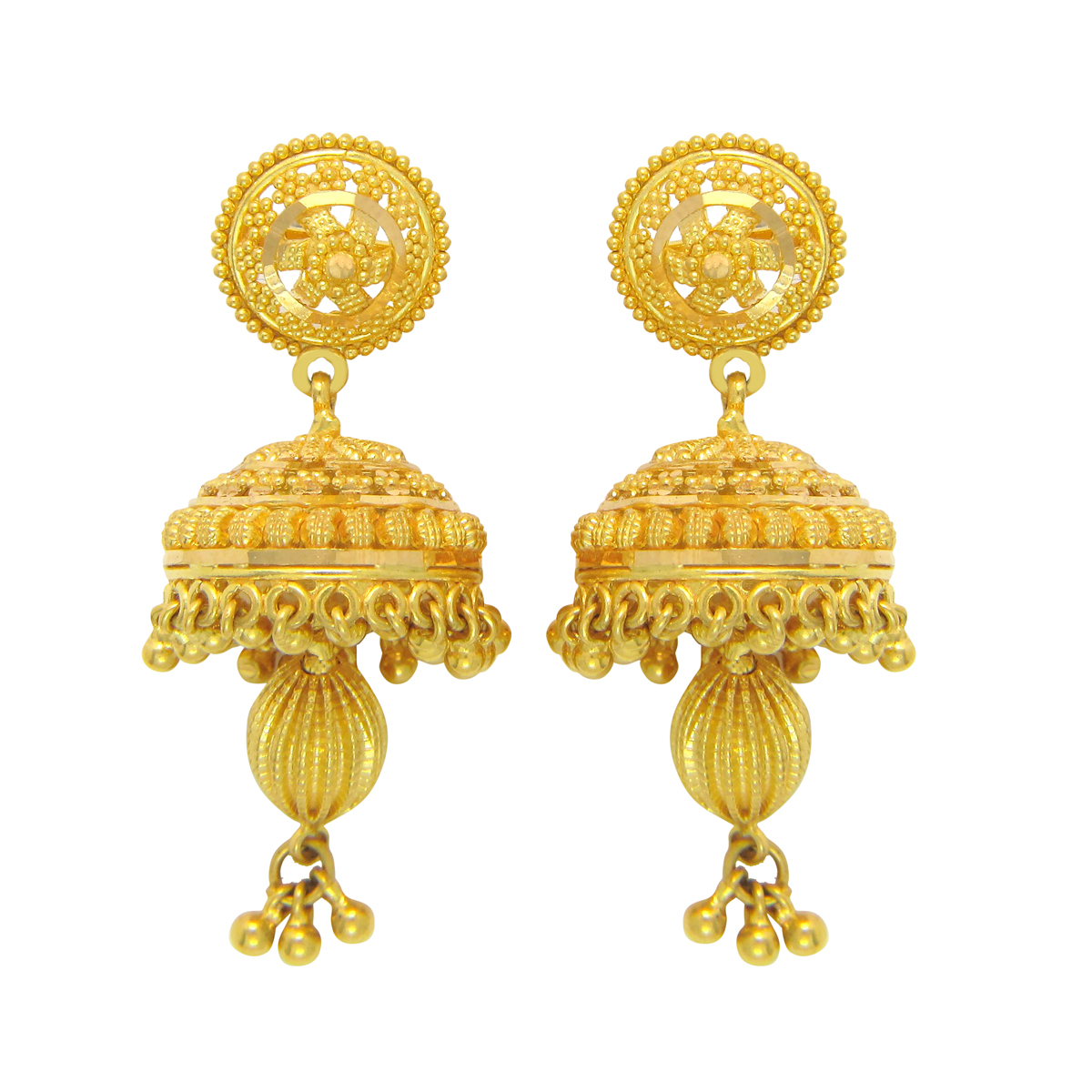 Popley 22Kt Gold Bandhan Earring - A89
