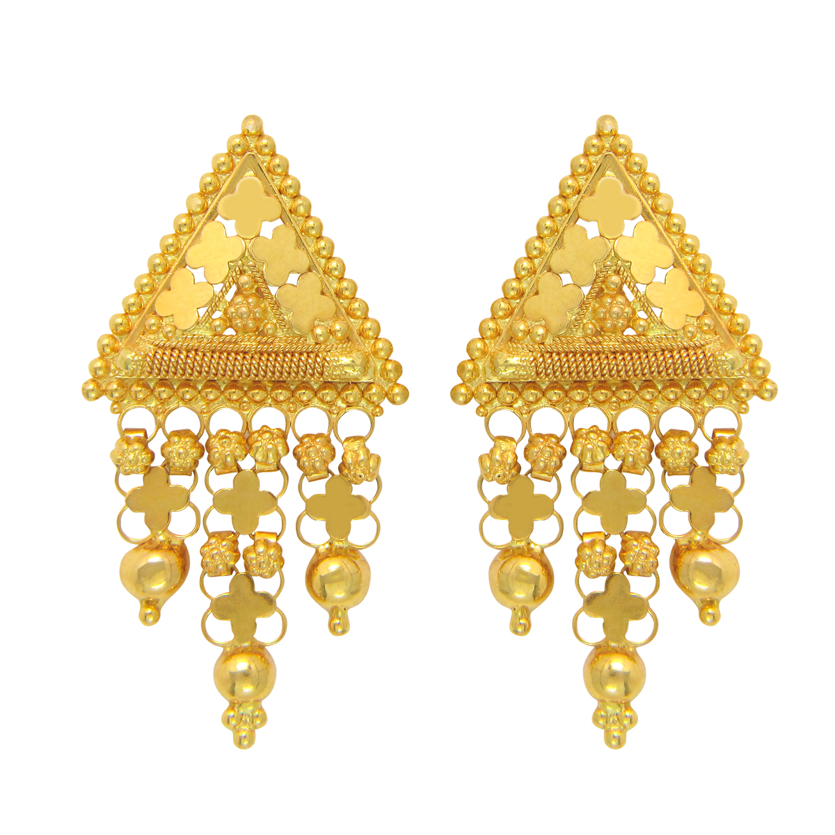 Popley 22Kt Gold Bandhan Earring - A68