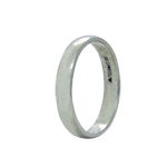 18Kt White Gold Band Ring