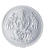 Popley Silver 999 Purity 50 Gram Coin with Goddess Lakshmi Design
