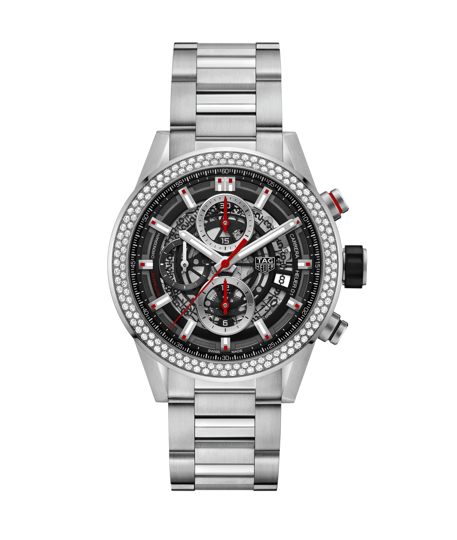 TAG HEUER CARRERA CALIBRE HEUER 01 AUTOMATIC CHRONOGRAPH 100m - 43mm - CAR201P.BA0766