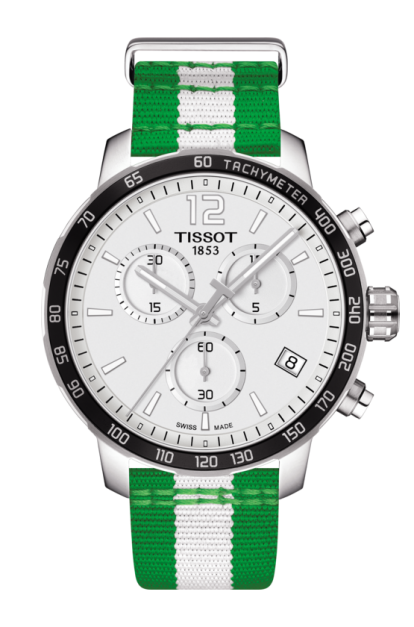 TISSOT QUICKSTER CHRONOGRAPH NBA BOSTON CELTICS Swiss quartz - T095.417.17.037.17