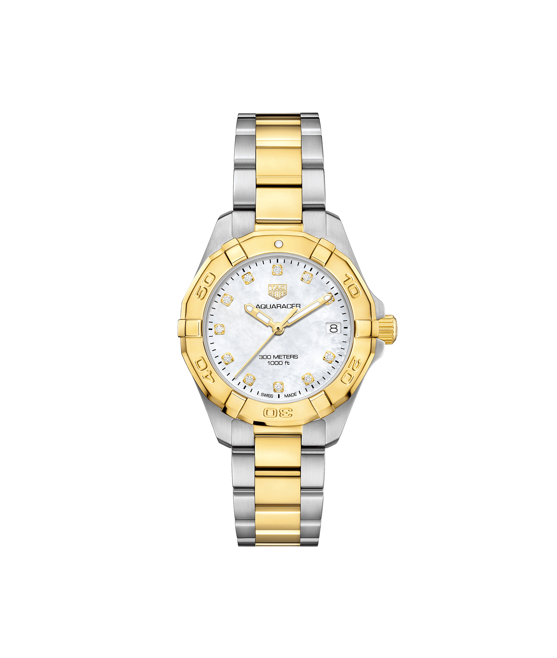 TAG HEUER AQUARACER 300 m - 32mm 18K GOLD BEZEL - WBD1322.BB0320