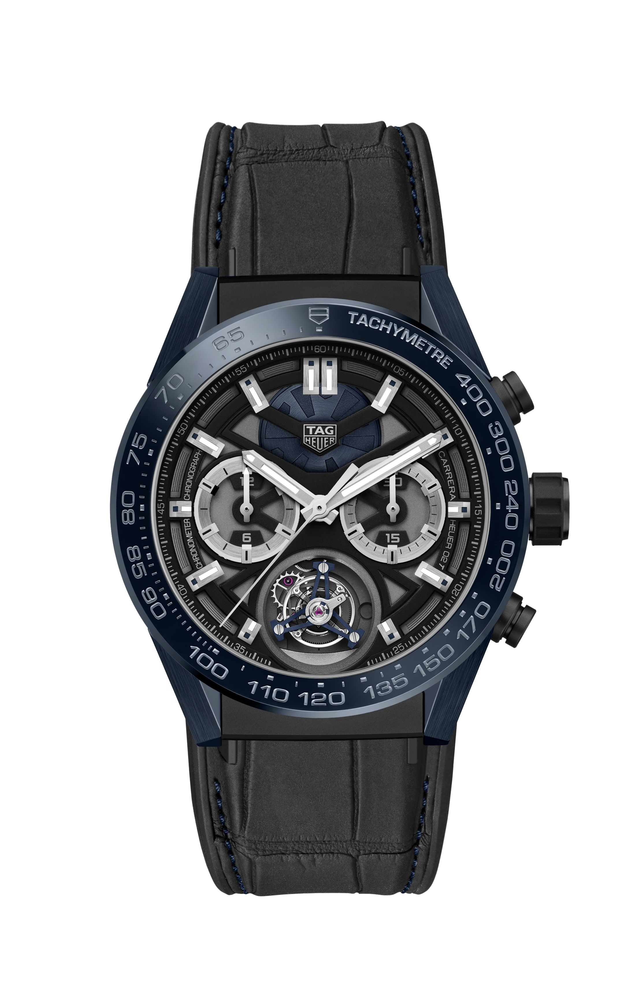 "TAG Heuer Carrera ""Tête de Vipère"" Chronograph Tourbillon Chronometer - CAR5A93.FC6442"