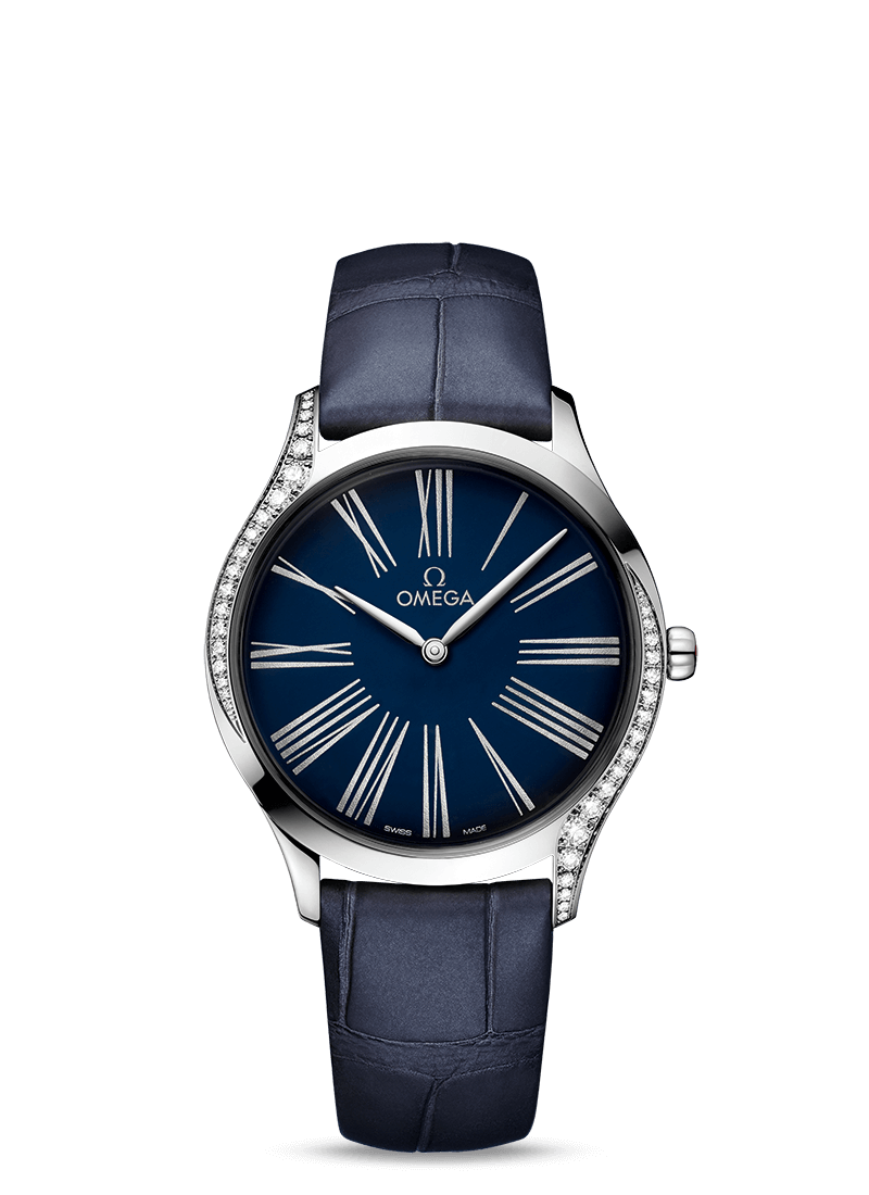 Omega De Ville TRÉSOR QUARTZ 36MM Steel on leather strap - 428.18.36.60.03.001