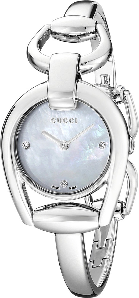 Gucci Horsebit Collection Mother of Pearl Dial 28mm Ladies Quartz Watch - YA139506