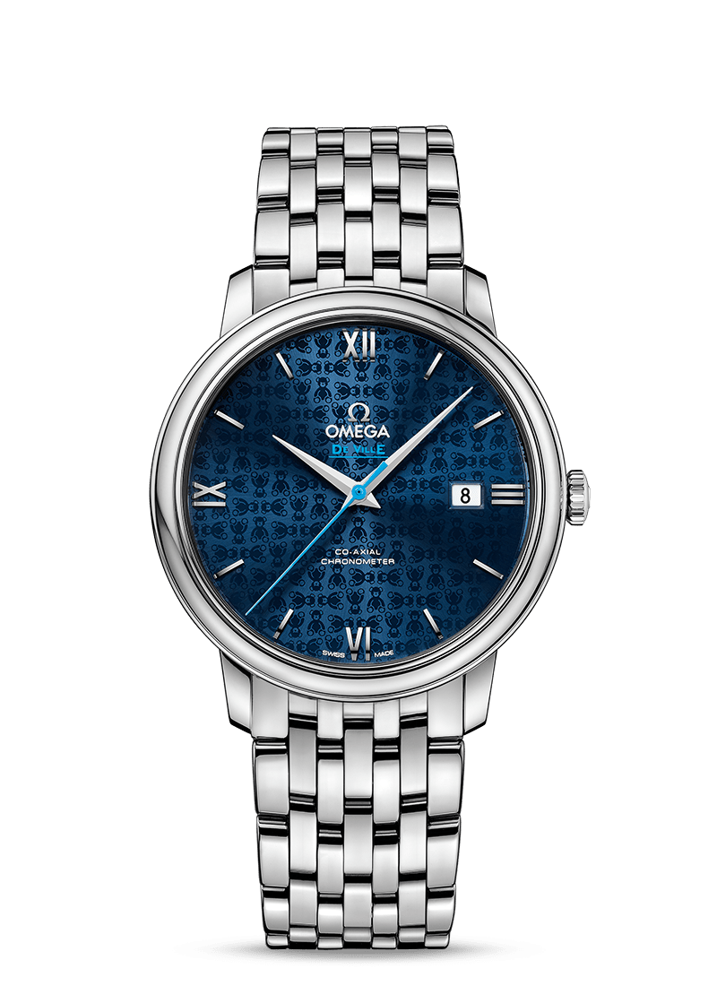 Omega De Ville PRESTIGE CO-AXIAL Blue Dial 39.5 MM Orbis Steel on Steel - 424.10.40.20.03.003