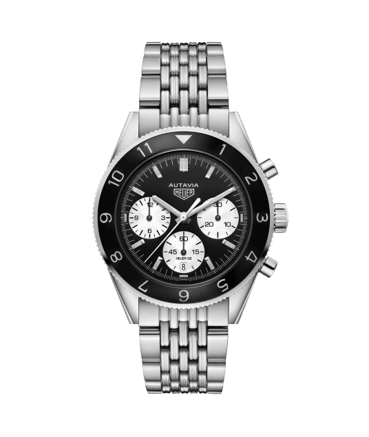 HEUER HERITAGE CALIBRE HEUER 02 AUTOMATIC CHRONOGRAPH 100m - 42mm - CBE2110.BA0687