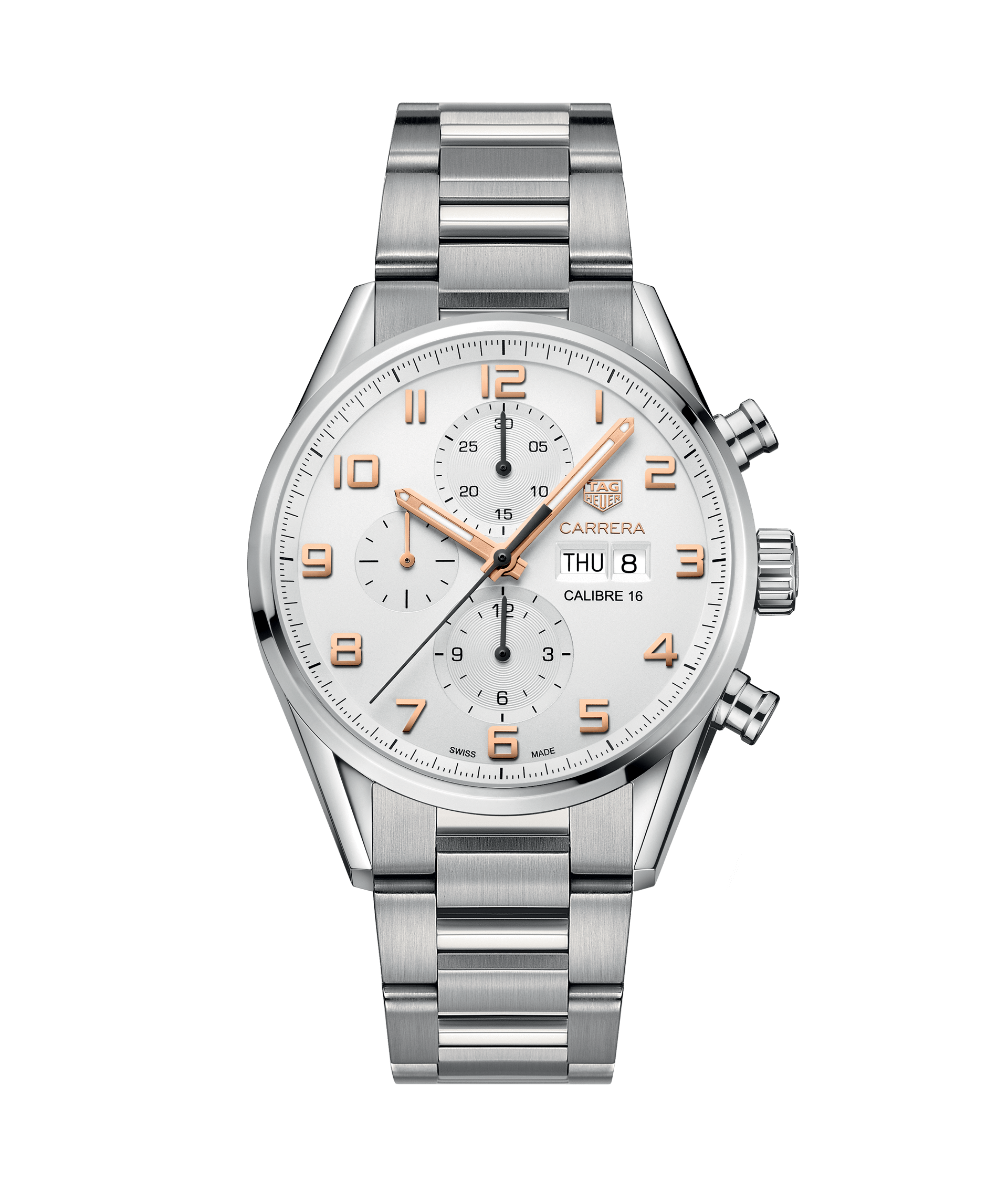 TAG HEUER CARRERA CALIBRE 16 AUTOMATIC CHRONOGRAPH 100m - 43mm - CV2A1AC.BA0738