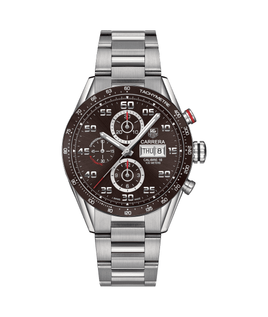 TAG HEUER CARRERA CALIBRE 16 DAY-DATE AUTOMATIC CHRONOGRAPH 100m - 43 mm - CV2A1S.BA0799