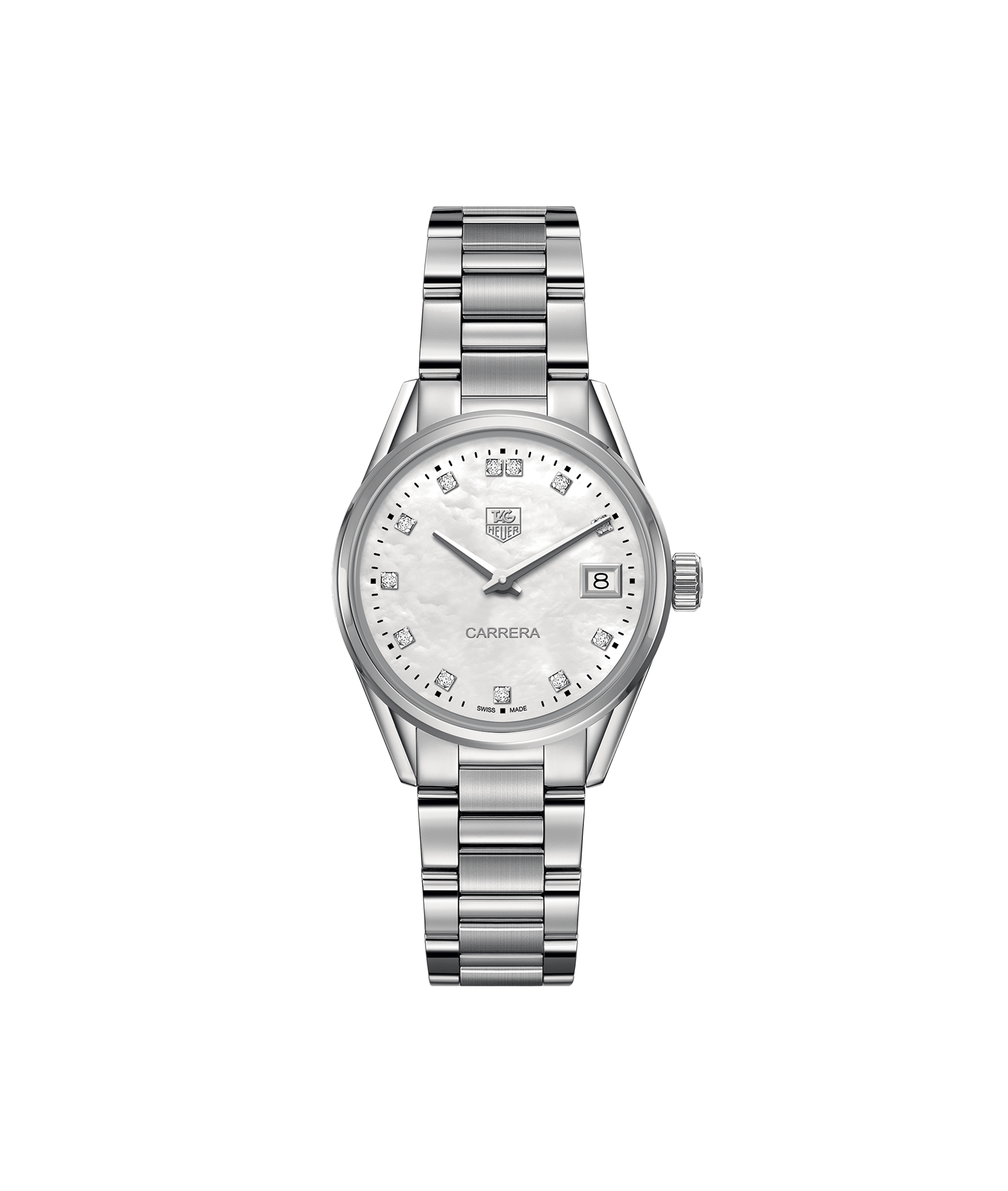 TAG HEUER CARRERA 100m - 32mm - DIAMONDS QUARTZ - WAR1314.BA0778