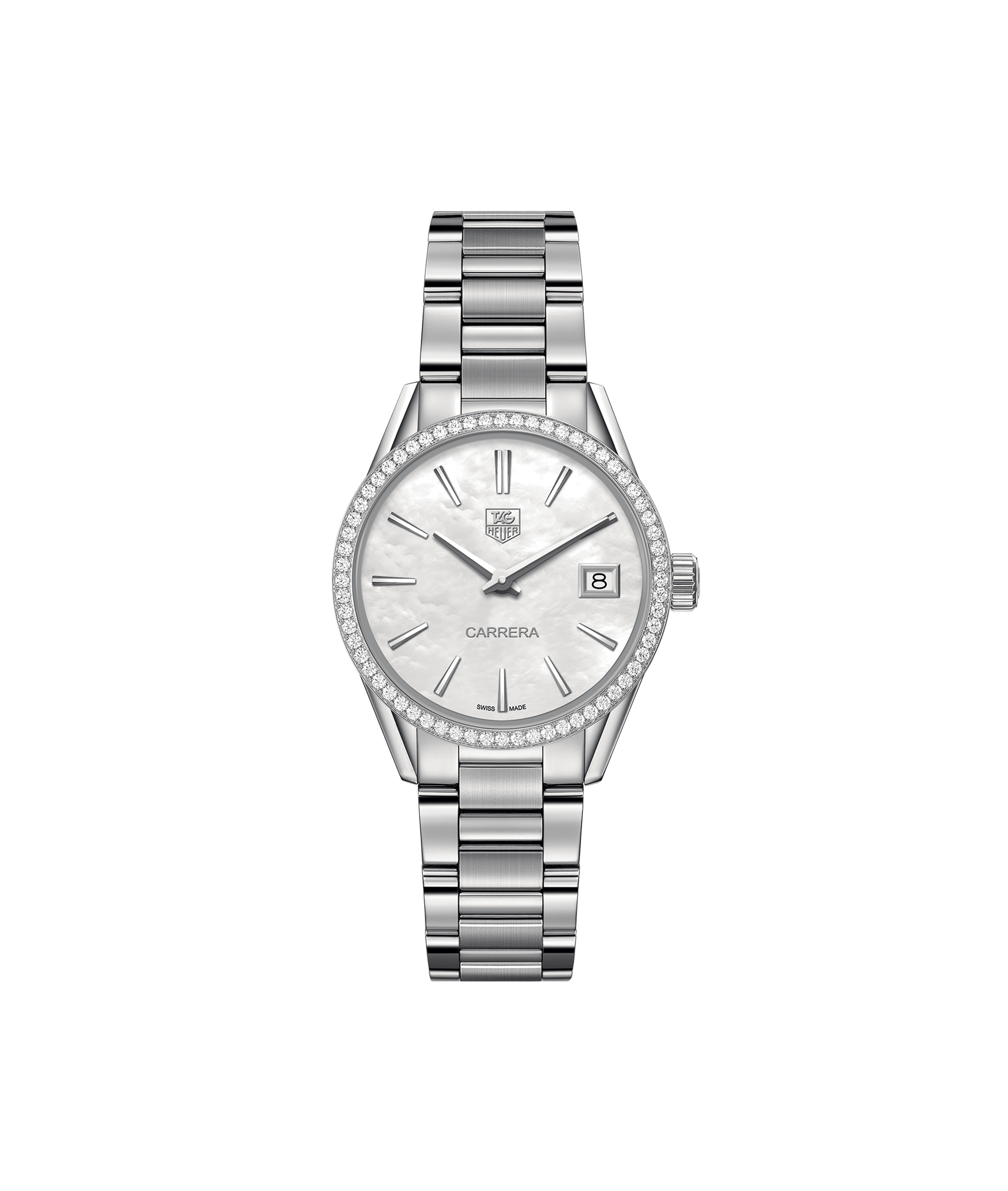 TAG HEUER CARRERA 100m - 32mm - DIAMONDS QUARTZ - WAR1315.BA0778