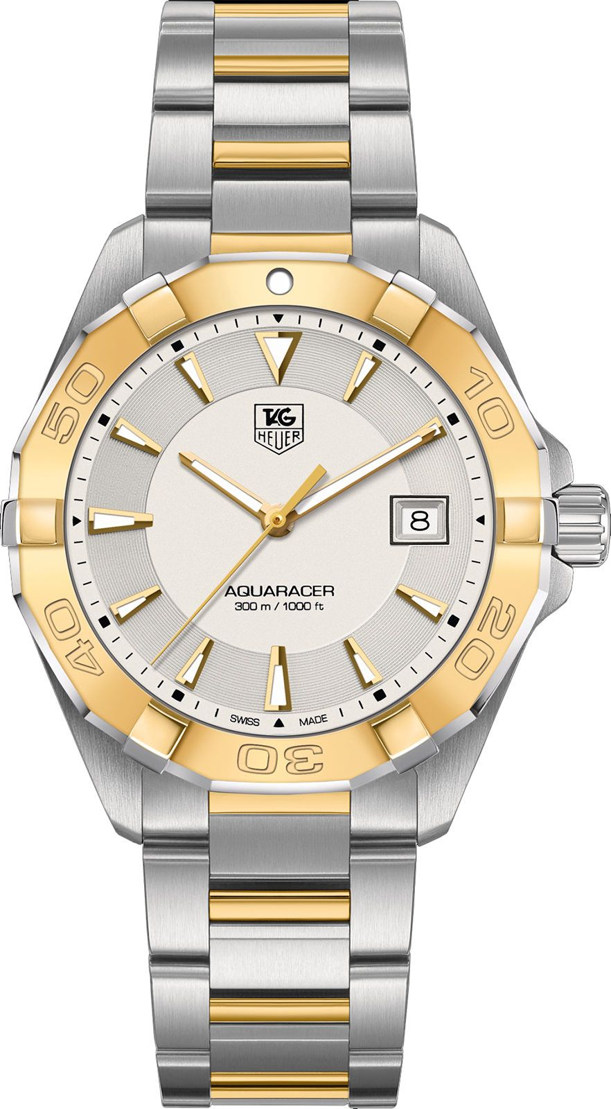 TAG HEUER AQUARACER CALIBRE 5 AUTOMATIC WATCH 300m - 40.5mm YELLOW GOLD - WAY2151.BD0912